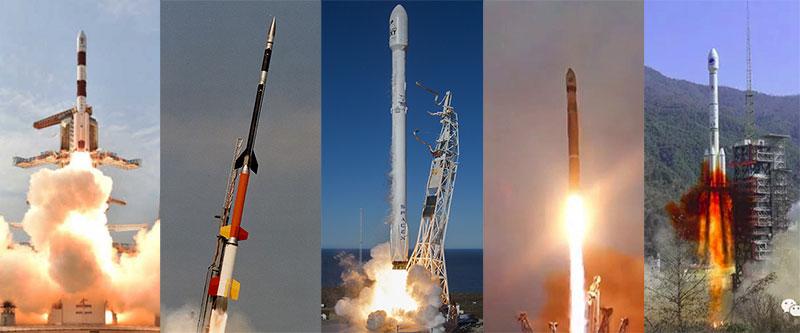 Cinco cohetes, cinco