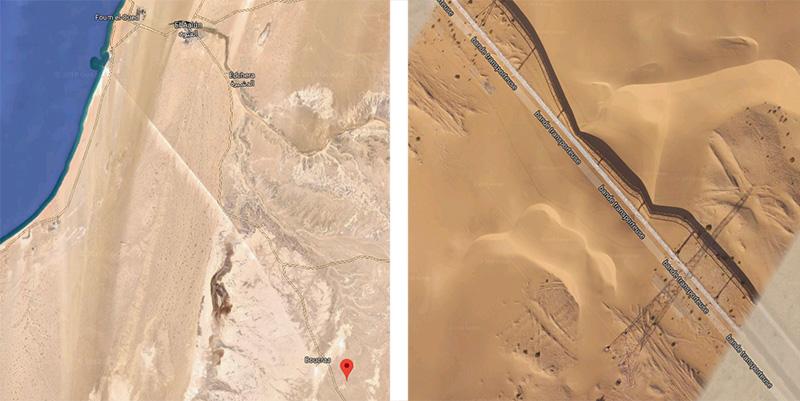 Cinta transportadora de Bou Craa / Google Maps
