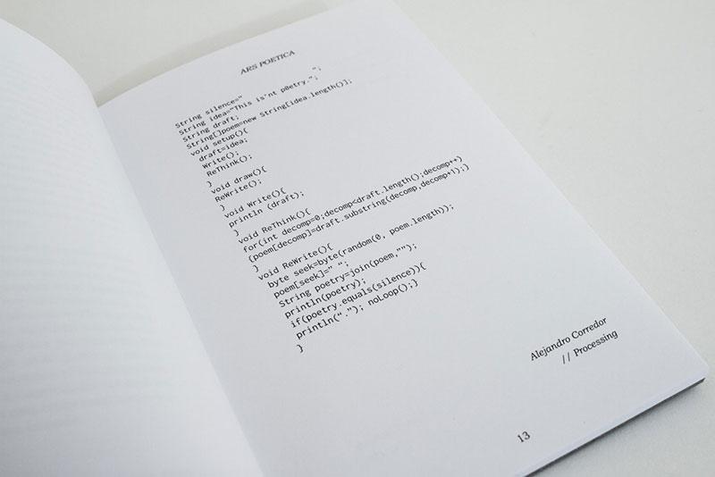 Ars Poetica por Alejandro Corredor, escrito en Processing
