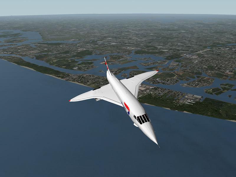 Concorde B en vuelo