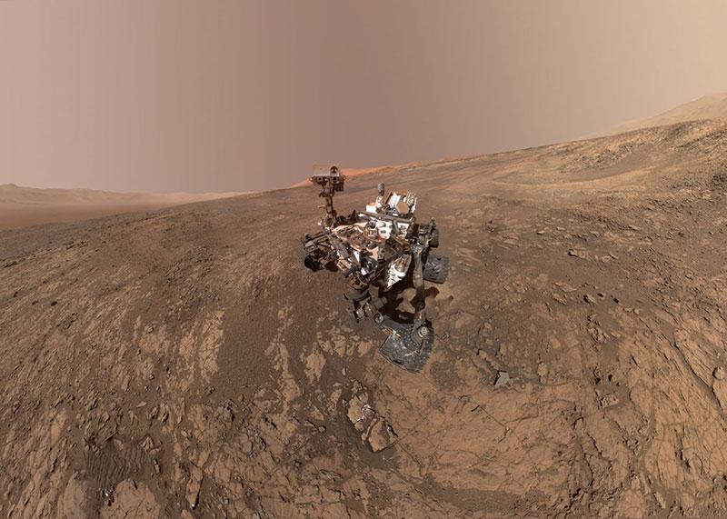 Autorretrato de Curiosity en febrero de 2018