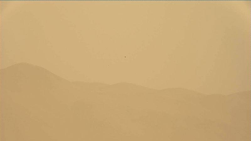 El polvo llega hasta donde está Curiosity