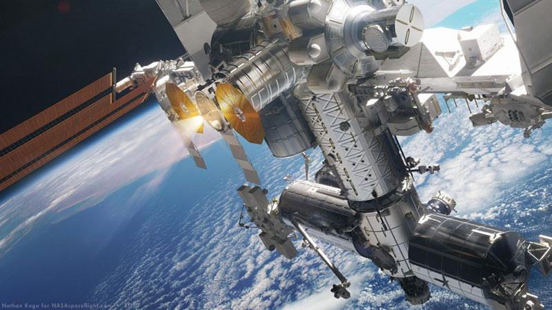 Impresión artística de la Cygnus acelerando la EEI