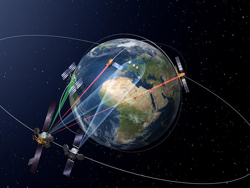 European Data Relay System con dos nodos