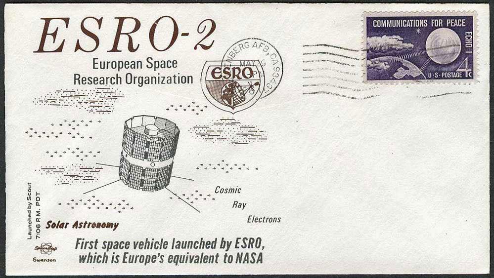 ESRO-2B en un sobre