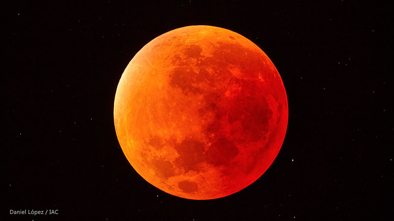 La Luna durante un eclipse - Daniel López/IAC