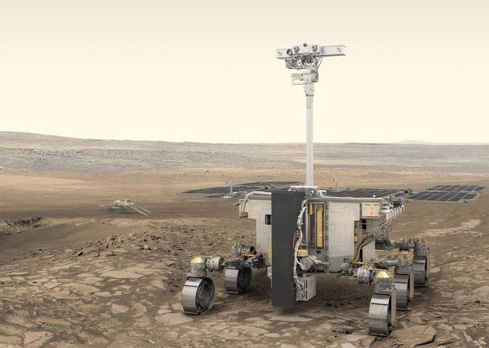 Impresión artística del rover de la misión en Marte - ESA