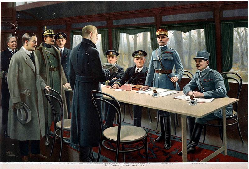 Firma del Armisticio de Compiègne – Maurice Pillard Verneuil