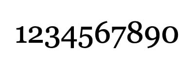 Números en Georgia