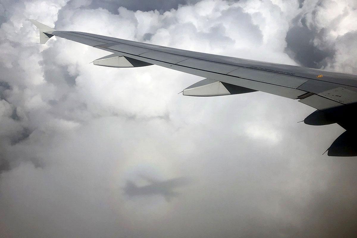 Gloria del piloto llegando a Madrid