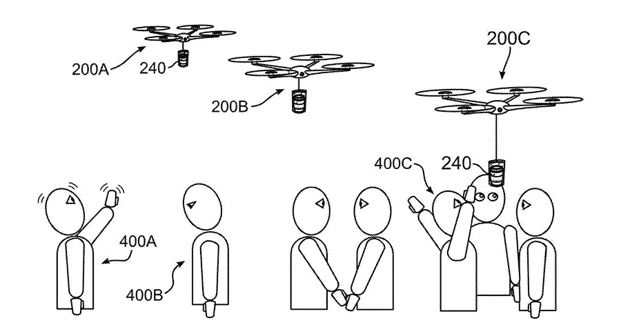IBM / un dron que lleva café a las personas cuando detecta que necesitan cafeína
