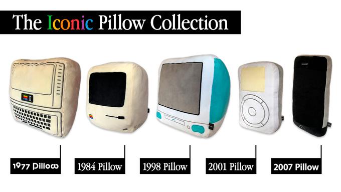 La colección de icónicos cojines Apple / Throwboy