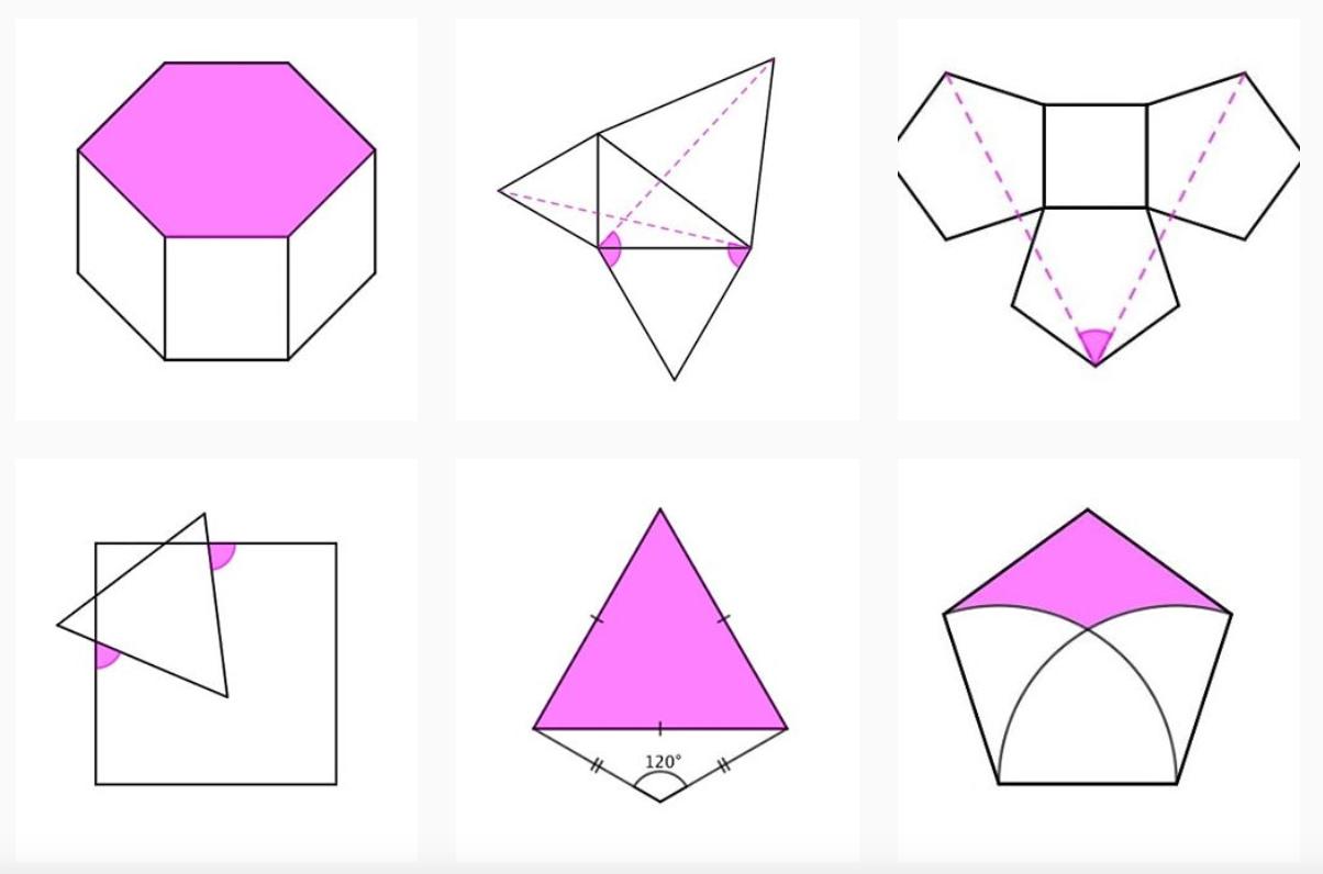 Los problemas geométricos de SolveMyMaths en Instagram