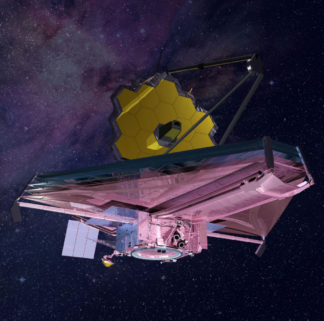Concepción artística del JWST en el espacio