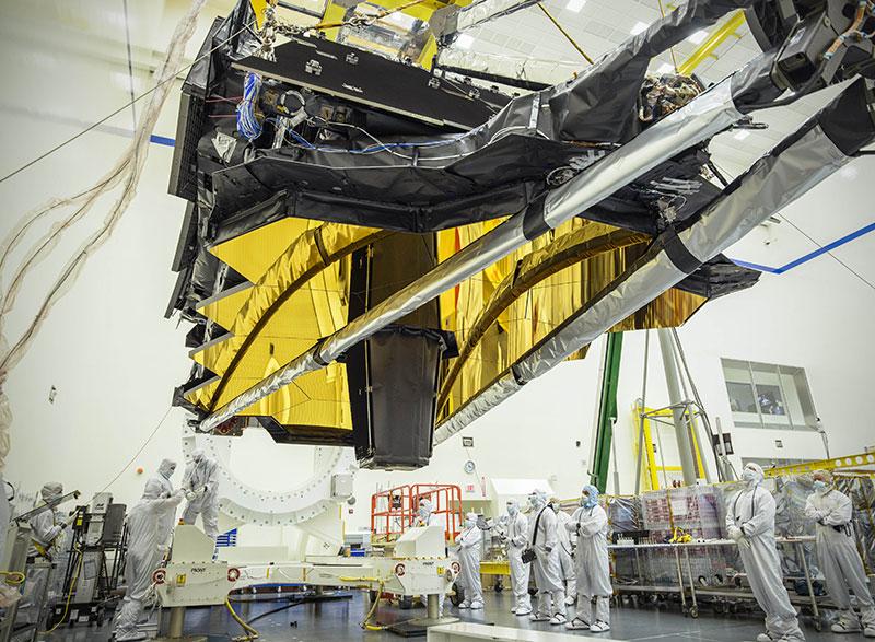El telescopio a su llegada a Gorthrop Grumman
