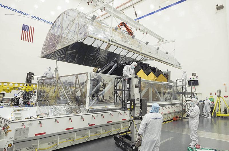 El telescopio a su llegada a Northrop Grumman