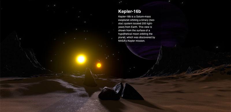 Kepler-16b desde una hipotética luna