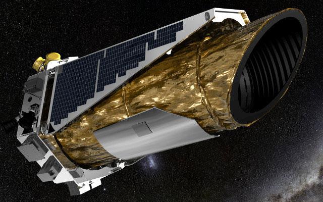 Impresión artística de Kepler en el espacio
