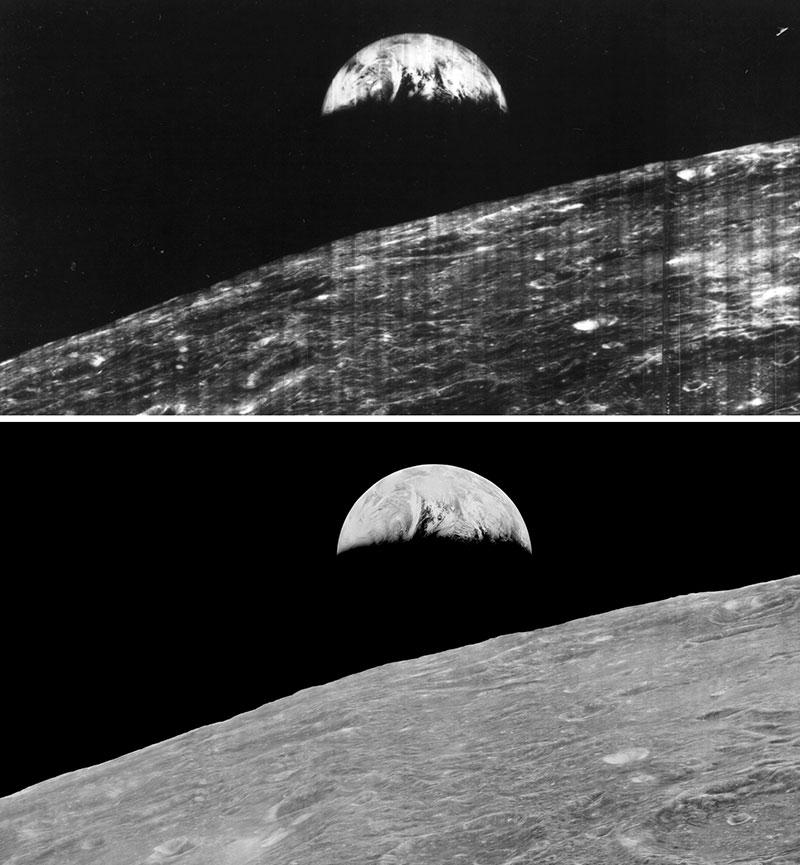 Dos imágenes separadas por 45 años