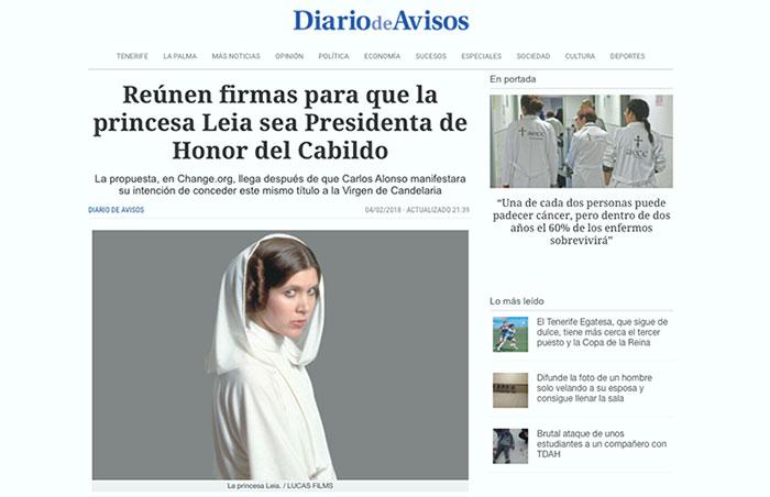 Además de Princesa, «Presidenta Honoraria y Perpetua» del Cabildo insular
