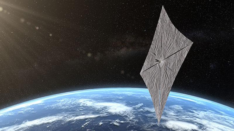 Lightsail 2 sobre la Tierra