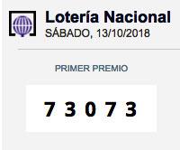 Lotería Nacional 73073