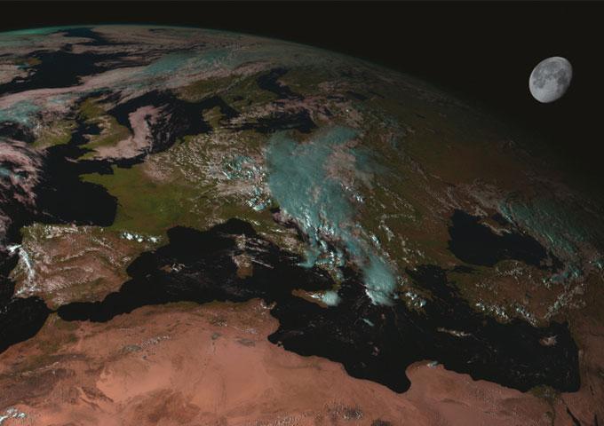 La Luna vista por un Meteosat de segunda generación
