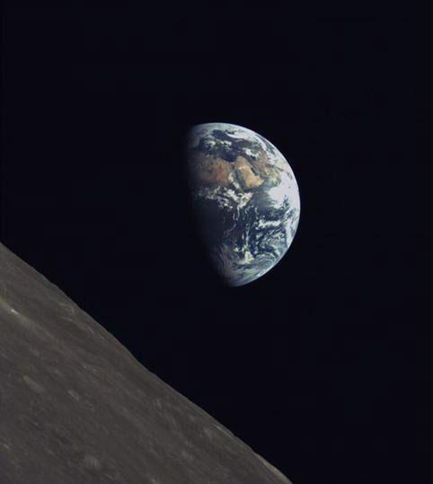 La Luna y la Tierra vistas desde el Longjiang-2