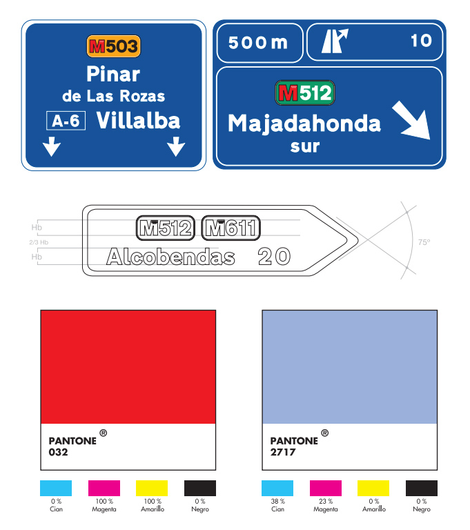 Manual de identidad visual para carreteras de la Comunidad de Madrid