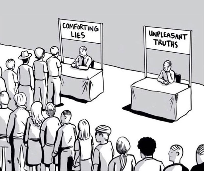 Mentiras cómodas, verdades desagradables