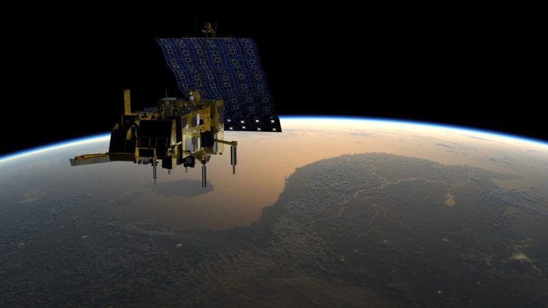 Impresión artística del MetOp-C en órbita