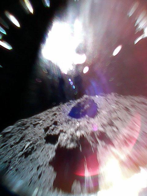 Imagen captada por Minerva-II 1A durante un salto
