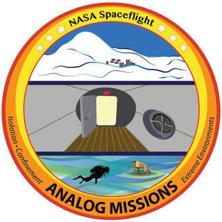 Logo de las misiones análogas de la NASA