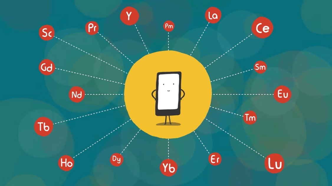 Los materiales raros de que están compuestos los 2.500 millones de terminales móviles que se usan hoy en día en el mundo / TED-Ed
