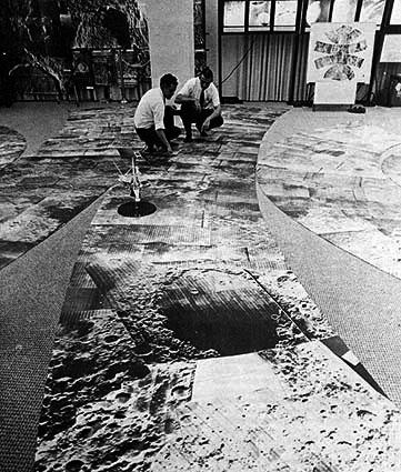 Mosaico con imágenes de las Lunar Orbiter