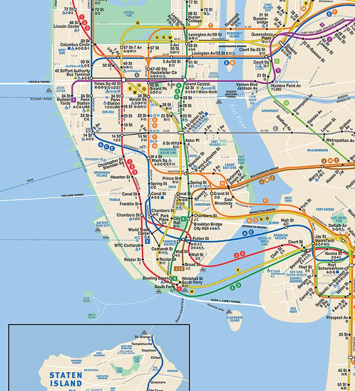 Plano del Metro de Nueva York / MTA
