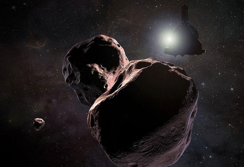 Impresión artística de la New Horizons en 2014 MU69