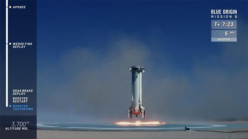 El New Shepard aterrizando