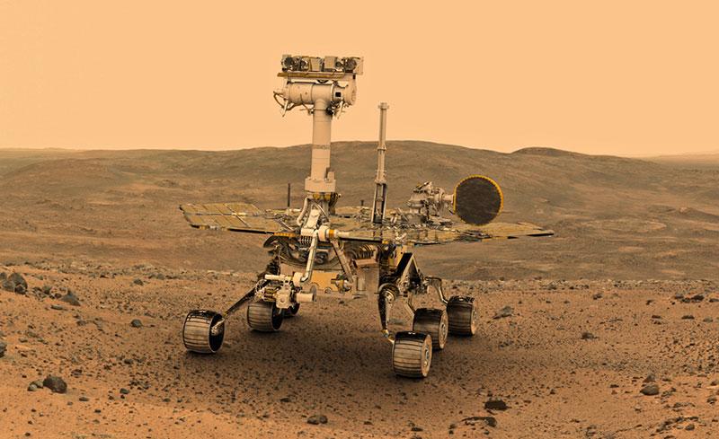 Impresión artística de Opportunity en Marte