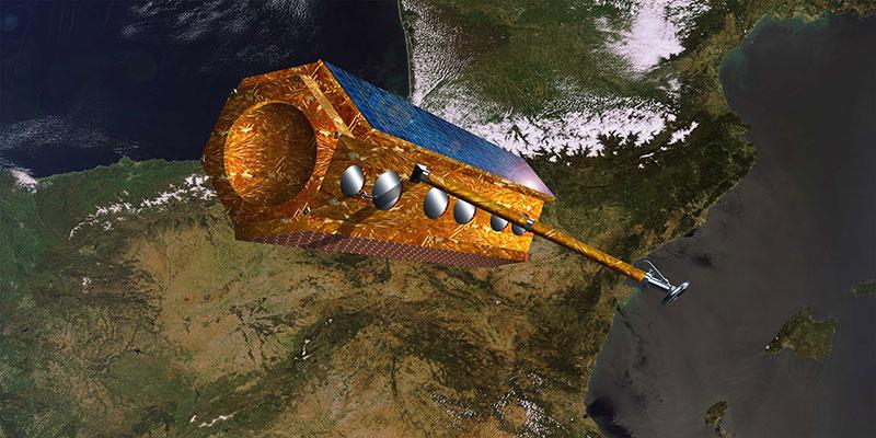 Impresión artística de PAZ en órbita