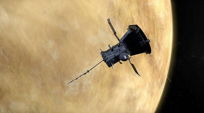 Impresión artística de la PSP en las proximidades de Venus
