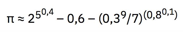 Pi con los dígitos del 1 al 9 y el 0 y comas