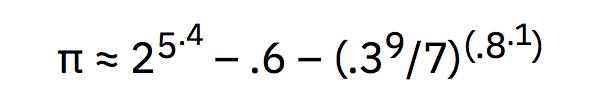 Pi con los dígitos del 1 al 9