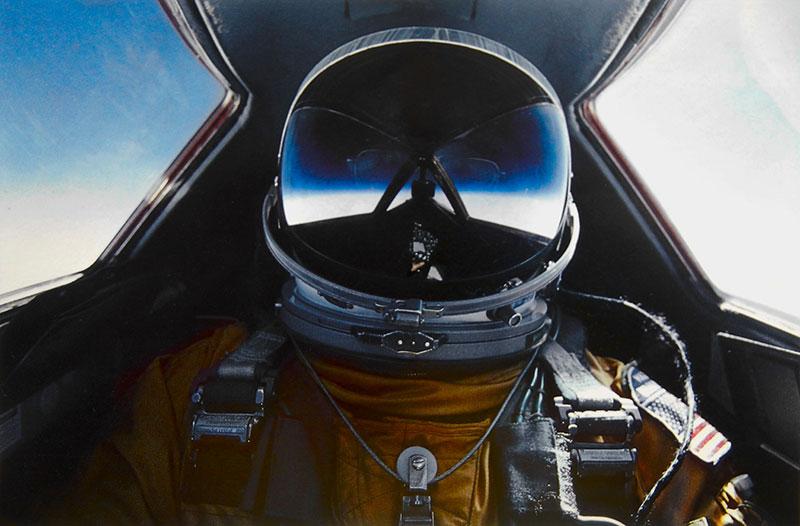 Brian Shul en la cabina de un SR-71