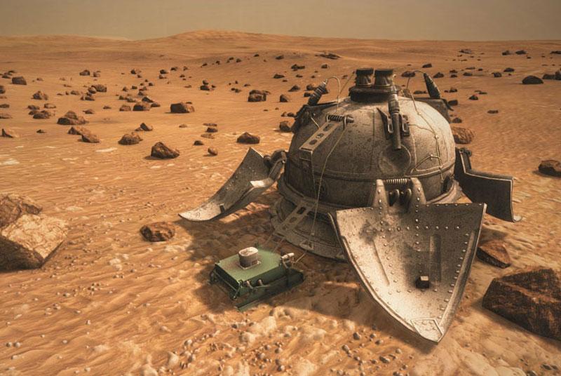 Impresión artística de la Mars 3 y su ProP-M