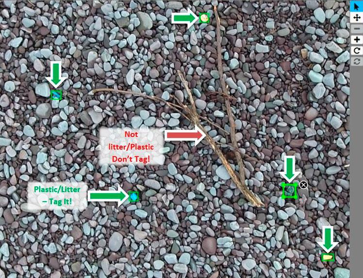 Drones para el estudio del problema de los plásticos que contaminan las playas y los mares