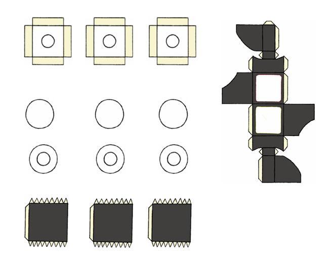 Cómo construir un cubo de Rubik (que funciona) con cartón, tijeras, pegamento y pintura