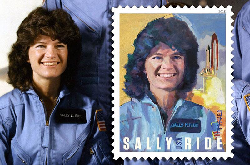 Sello dedicado a Sally Ride