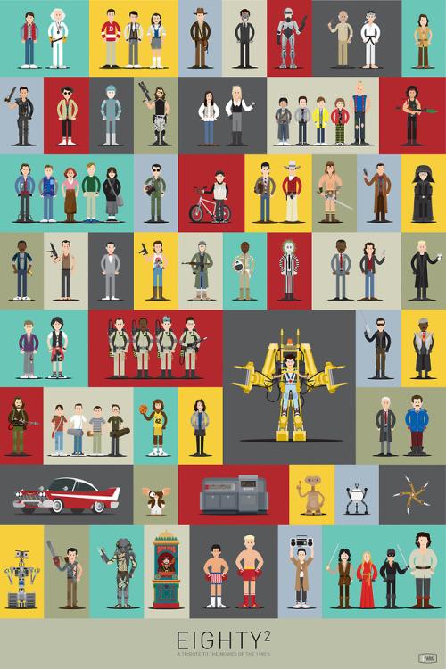 Eighty² es un homenaje ilustrado a la cultura pop y las películas de los 80
