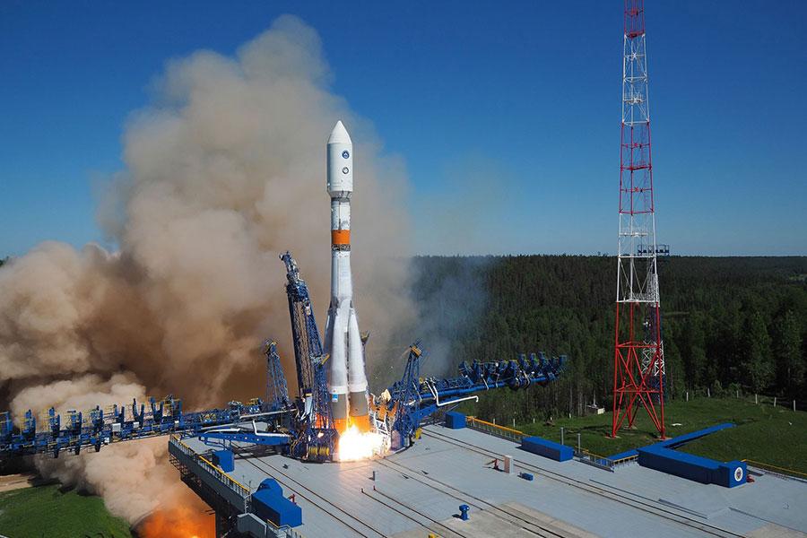 Lanzamiento de un Soyuz 2-1b desde Plesetsk